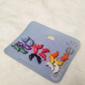 Claire's NWT Rainbow Dolphin Earrings